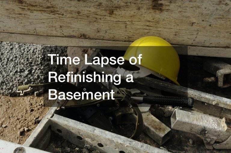 Time Lapse of Refinishing a Basement